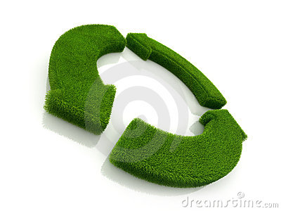 Loop recycle grass symbol