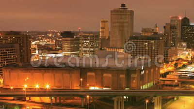 Looped day to night timelapse of Memphis, Tennessee, United States 4K lager videofilmer