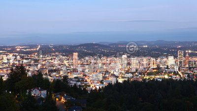 Looped day to night timelapse of Portland, Vereinigte Staaten 4K stock footage