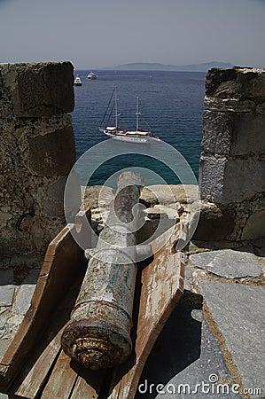 Loophole at Bodrum castle, Turkey