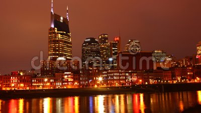 Looping day to night timelapse di Nashville, Stati Uniti 4K stock footage