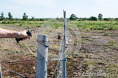 Loosen electric fence