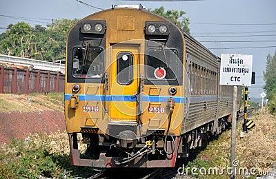Lop Buri, Thailand: Thai Railways Train Editorial Stock Photo
