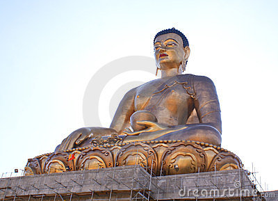 Lord Buddha s bronze statue at Buddha Point Editorial Stock Image