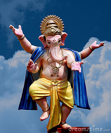 Free Lord Ganesha - Dancing Stock Photography - 6439542