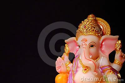 Lord Ganesha on a Dark background