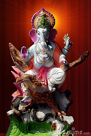Lord Ganesha on garuda