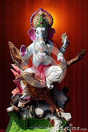 Lord Ganesha on garuda