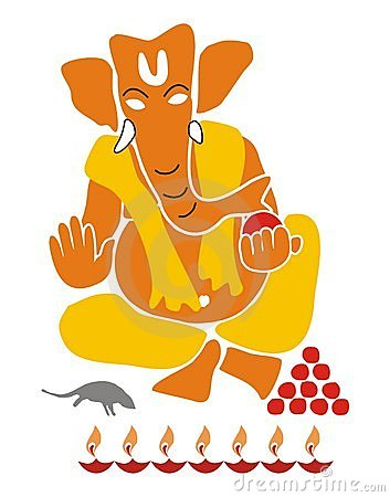 Lord Ganesha - Illustration isolated