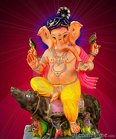 Free Lord Ganesha Sitting On Mouse Royalty Free Stock Images - 6663299
