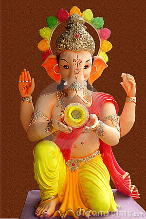 Free Lord Ganesha With Kalash Stock Photo - 6662940