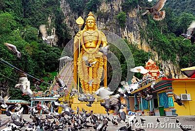 Lord Murugan Statue  Editorial Stock Image