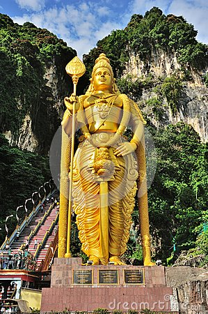 Lord Murugan Statue, Batu Caves Editorial Stock Photo
