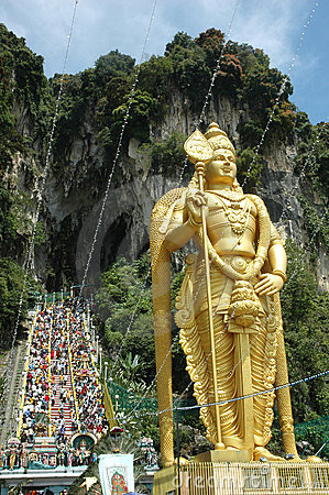 Lord Murugan Statue at Batu Caves Thaipusam Editorial Stock Image