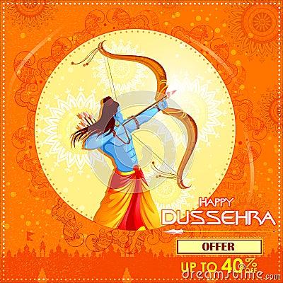 Free Lord Rama Killing Ravana In Happy Dussehra Festival Offer Royalty Free Stock Image - 100458626