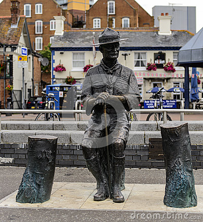 Lord Robert Baden Powel Bronze Statue Poole Quay