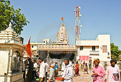 Lord Shani Temple at Shingnapur,India. Editorial Photography