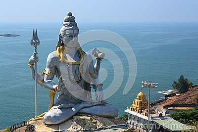 Lord Shiva Statue in Murudeshwar, India.