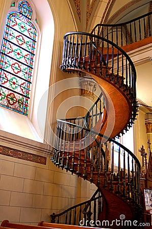 Free Loretto Chapel, Miraculous Staircase Royalty Free Stock Photos - 106242718