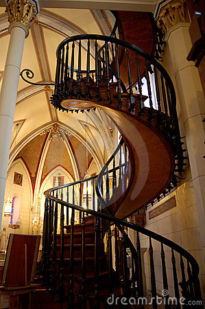 Free Loretto Chapel Staircase Royalty Free Stock Photography - 20075657