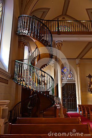 Free Loretto Chapel Staircase Royalty Free Stock Photography - 45363417