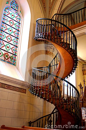 Free Loretto Chapel Staircase, Santa Fe, New Mexico Stock Photos - 119445453