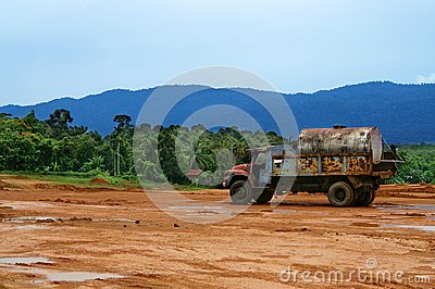 Lorry at Construction Site