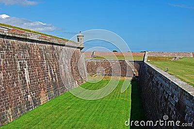 Los almenajes de la fortaleza George, Escocia