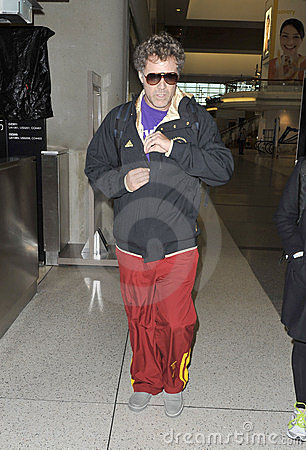 LOS ANGELES - Actor Will Farrell is seen at LAX Editorial Stock Image