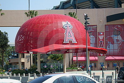 Los Angeles Angel Stadium of Anaheim - Giant Caps Editorial Image