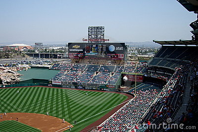 Los Angeles Angel Stadium of Anaheim Scoreboard Editorial Stock Image