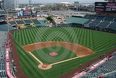 Los Angeles Angels Stadium of Anaheim Editorial Stock Image