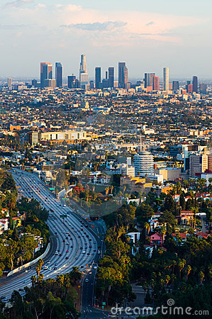Free Los Angeles At Sunset Royalty Free Stock Images - 13412189