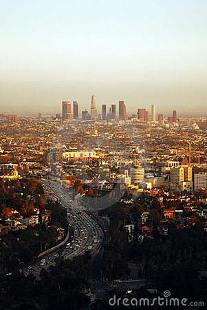 Free Los Angeles At Sunset Royalty Free Stock Images - 3612039