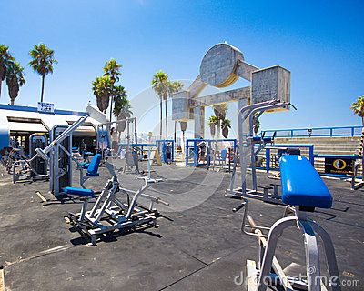 Muscle Beach Venice CA Editorial Stock Photo