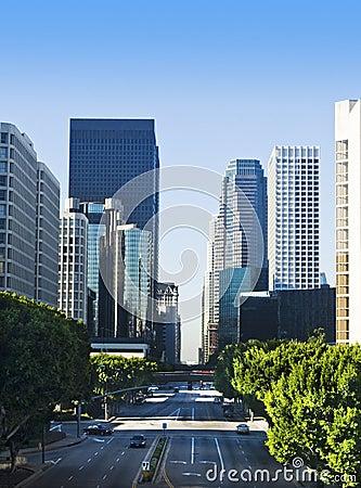 Los Angeles City Street Scene
