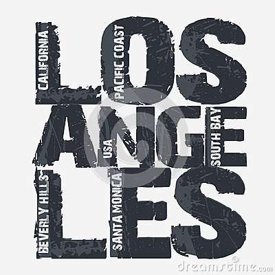 Free Los Angeles City Typography Design Stock Image - 62364451