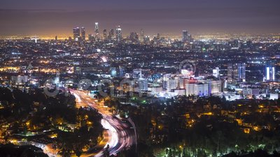 Los Angeles Cityscape stock video