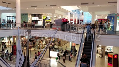 Interior view of the West Covina mall. Los Angeles County, JUN 15: Interior view of the West Covina mall on JUN 15, 2019 at Los Angeles County stock video