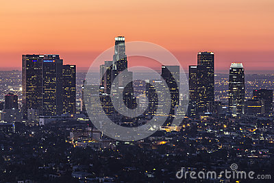 Los Angeles Before Dawn Editorial Photography