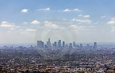 Los Angeles downtown, bird s eye view