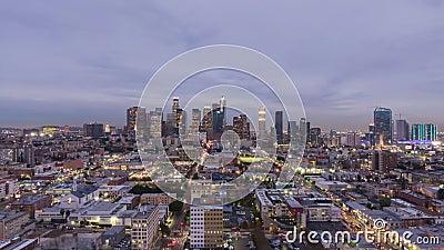 Los Angeles Downtown California, USA Vista aerea video d archivio