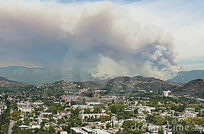 Los Angeles Forest Fire Editorial Stock Photo