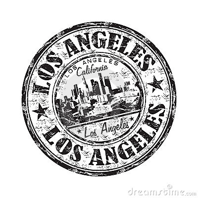 Los Angeles Grunge Rubber Stamp Stock Photo Image 21248120