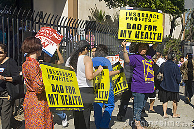 Los Angeles Health Care Rally Editorial Image