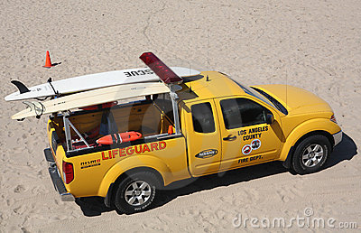 Los Angeles Lifeguard Editorial Photography
