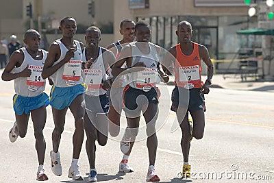 Los Angeles Marathon Elite Runners Editorial Stock Image