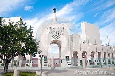 Los Angeles Olympic Coliseum Editorial Photo