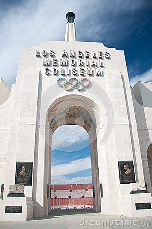 Los Angeles Olympic Coliseum Editorial Stock Photo