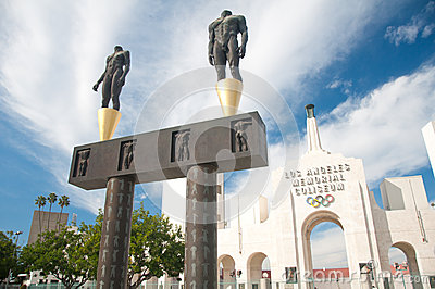 Los Angeles Olympic Coliseum Editorial Photography
